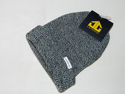 NEUF : Bonnet noir chiné  LANDING The WEEK color HEATHER Black - BEANIE