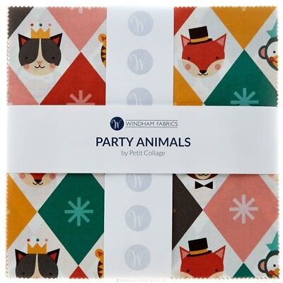 Quilting Fabric Layer Cake - Party Animal By Windham X 42 Closing Down Save $$$$
