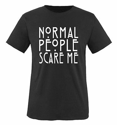 Comedy Shirts - Normal People Scare Me - Men's T-Shirt Horror Story