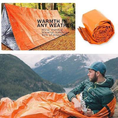 Reusable Emergency Sleeping Bag Thermal Waterproof Survival Camping Travel Bag
