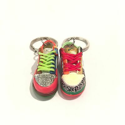 madxo   3D mini sneaker Keychain Dunk Low Pro SB WHAT THE DUNK nike LACES 01 87f49d17c