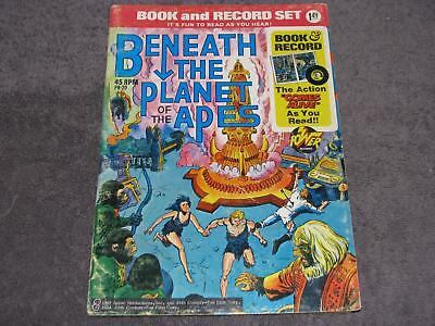 Beneath the Planet of the Apes Comic Book WITH 45 record PR-20 1974 Power Record