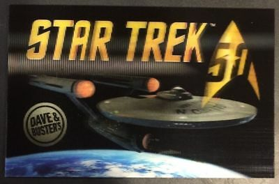 Limited Edition Star Trek 50th Anniversary Lenticular Card Elaut Dave & Busters