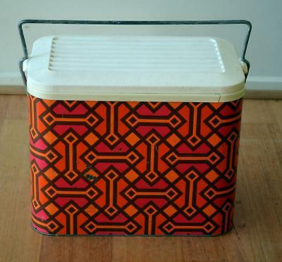 Vintage MCM mid century danish modern abstract pattern Willow cooler 1970's