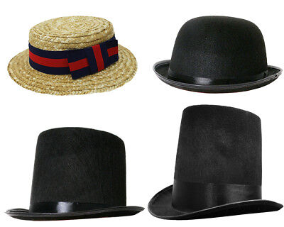 Adult Victorian Hat Choose Style Fancy Dress Costume Accessory Mens Womens
