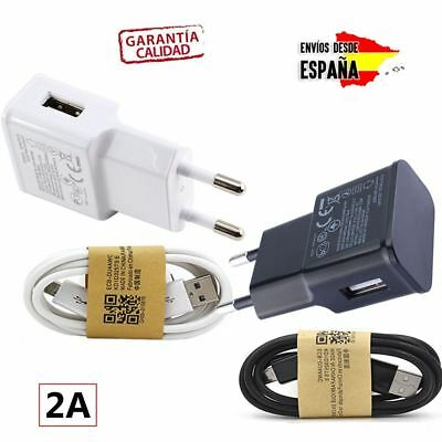 Pack Cargador Para Movil Tablet + Cable Micro Usb De 2A Amperios Red Universal