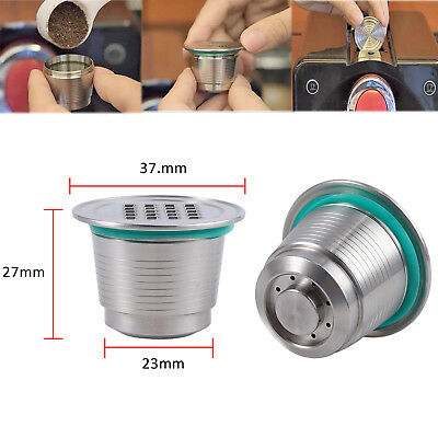 NEW Reusable Stainless Steel Coffee Filter Refillable Capsule Pod For Nespresso