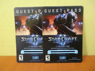 Blizzard Entertainment - 2x Starcraft 2 Wings of Liberty Guest Pass Key