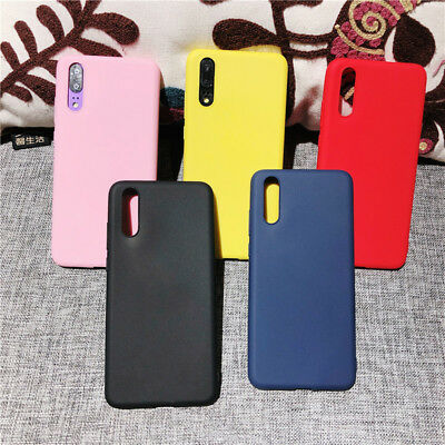 Matte Skin Candy Color Soft Silicone Case Cover For Huawei P10 Lite P Smart 2019