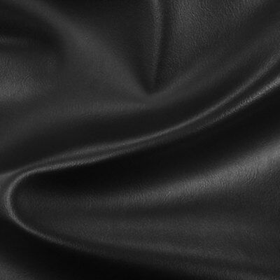 BLACK Faux Leather Fabric Contract Upholstery Leathercloth CRIB 5 FR HIGH GRADE