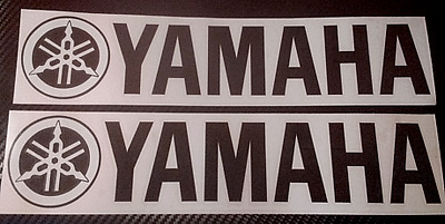 2 x Large Yamaha  R1 R6 R125 Fazer Motorcycle Boat etc Vinyl Sticker Decals