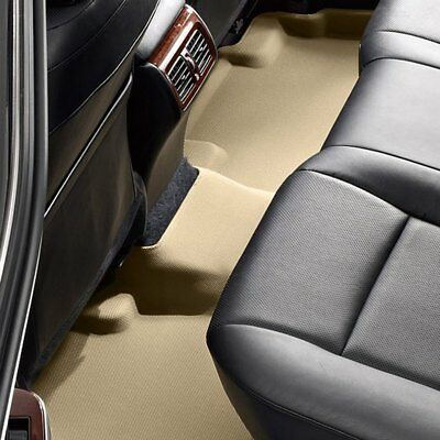 Tan 3D MAXpider Front Row Custom Fit All-Weather Floor Mat for Select Toyota Camry// Camry Hybrid Models Kagu Rubber L1TY17311502