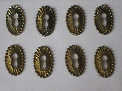 8 Pieces Solid Brass Antique Style Escutcheon Keyhole