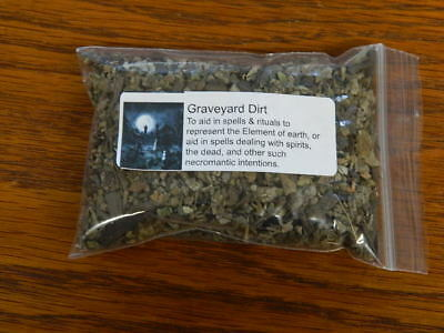 ONE OUNCE OF GRAVEYARD DIRT ~ Wicca, Santeria, Gothic