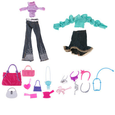 Doll Accessories Clothes Mixed Style Bags Headwear Set for Monster High Doll