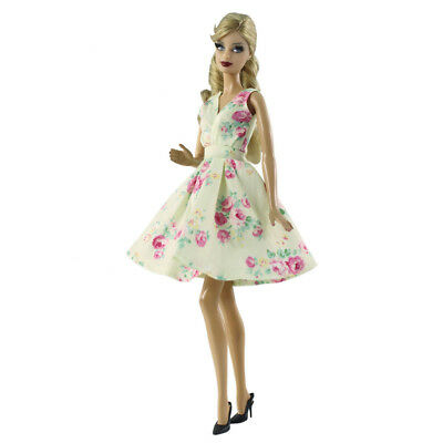 Cute Costume Floral Dress For 12inch Girl Doll 1/6 Fashion Skirt Clothes