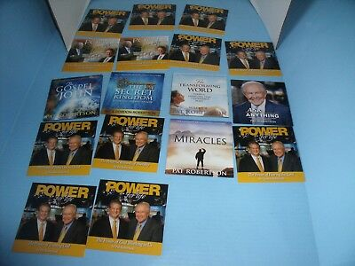 LOT OF 23 CDs & DVD PAT AND GORDON ROBERTSON CHRISTIAN BROADCASTING NETWORK