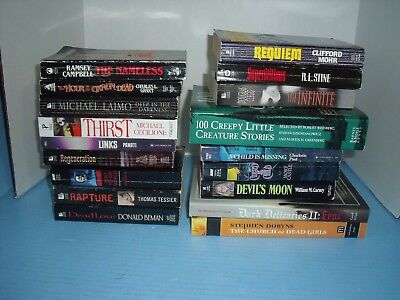 Lot Of 18 Horror*ramsey Campbell*douglas Clegg*others*the Church Of Dead Girls
