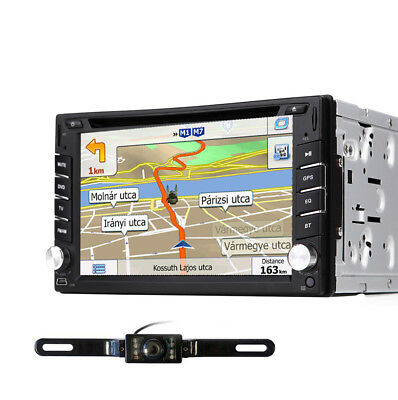 "6.2"" 2Din HD Car Stereo GPS Car DVD Player Auto Radio With Backup Camera Kit MAP"