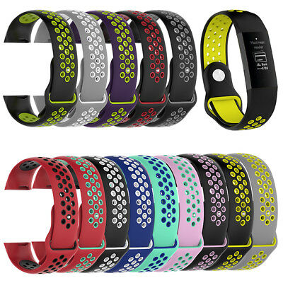 Fitbit Charge 3 Strap Best Replacement Silicone Watch Wrist Band Unisex Colorful