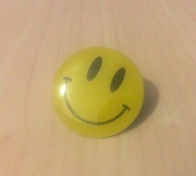 Acid House Smiley Face Pin Badge