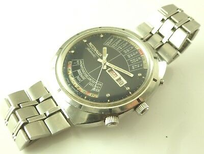 """Vintage Wittnauer """"2000"""" Automatic Perpetual Calendar Watch - Excellent Dial"""