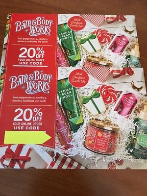 Lot 2 Bath and Body Works 20% off Online Order Coupons EXP. 03/24/2019
