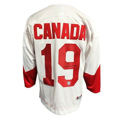 Paul Henderson Team Canada Autographed Signed 1972 Summit Series Hockey Jersey