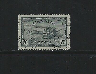CANADA - #O271 - 20c COMBINE OHMS PERFIN VF USED STAMP