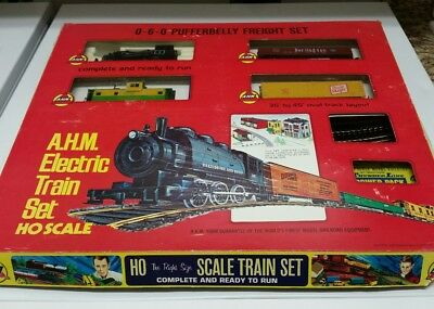 Vintage AHM HO Electric Train 0-6-0 PUFFERBELLY Box Complete Thunderline NOS