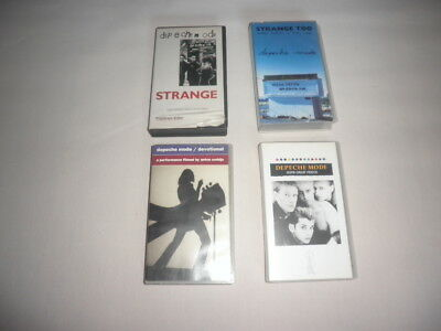 Lote 4 VHS Depeche Mode. STRANGE. STRANGE TOO. SOME GREAT VIDEOS. DEVOTIONAL.