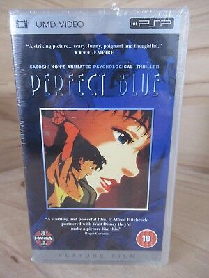 Perfect Blue UMD PSP DVD Manga Rated 18 PAL.