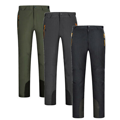 Unisex Winter Velvet Lined Pants Insulated Snow Ski Cargo Pants with Pockets