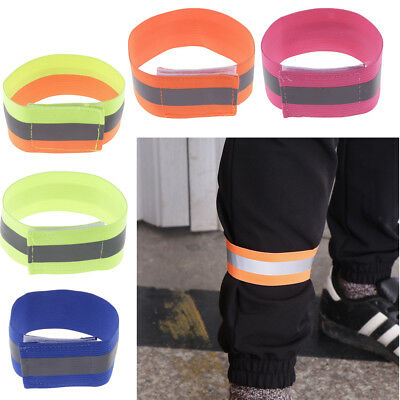2PCS Cycling Biking Running Bike Bind Elastic Pants Reflector Band Leg Strap