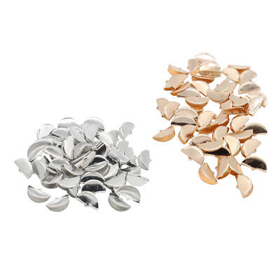 100x Ribbon Clip Clamp Cord Crimp End Cap Tip Jewelry Connector Finding 20mm