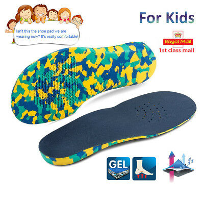 6116e62cf3 Children's Orthotic Insoles Arch Support Flat Feet Arch Pain kids insoles  EVA HT