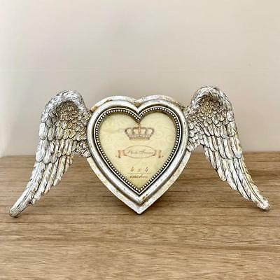 Great Gift Idea ❤️ Gorgeous Silver Gilt 'Angel Wings' Heart Frame