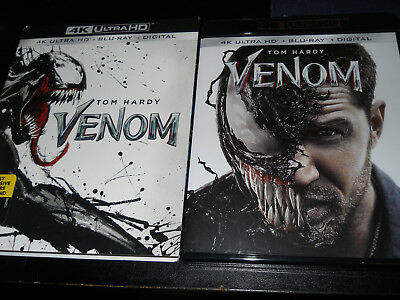 Venom 4K UHD Bluray and Regular Bluray No Digital Code. Slipcover included.
