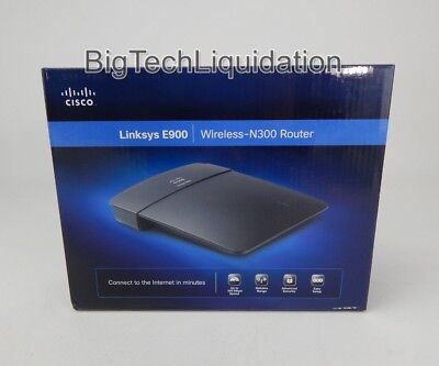 USED CISCO LINKSYS E900 Wireless N-300 Router / Good / In Box #k90E