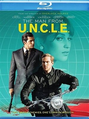 THE MAN FROM UNCLE New Sealed Blu-ray Henry Cavill Armie Hammer