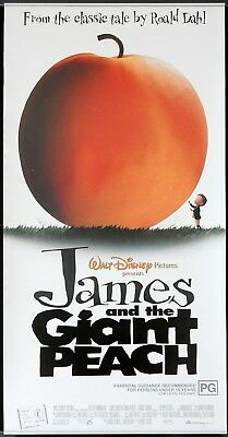 JAMES AND THE GIANT PEACH Original ROLLED Daybill Movie poster Roald Dahl
