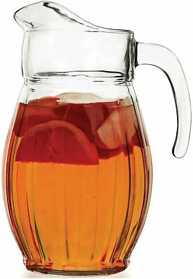 Circleware 55374 Corisca Glass Carafe Large 8 Cup Water Pitcher with Handle