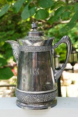 Antique Quadruple Plated Wilcox Silver Plate Co. #387 Water Pitcher Coffee Pot