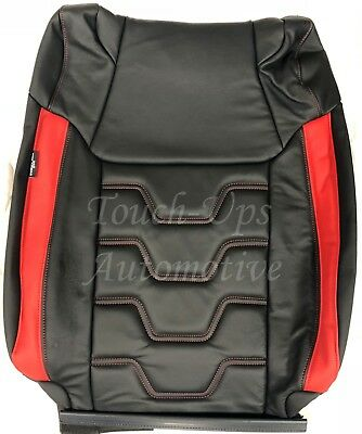 2014-2019 Toyota Tundra CrewMax ALEA Premier Style Leather Seat Covers Red