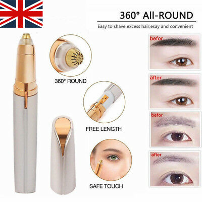Electric Women's Facial Hair Eyebrow Remover Painless Brows Trimmer LED Light