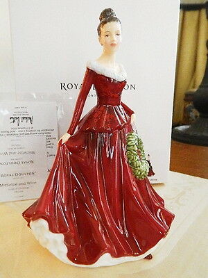 Royal Doulton Pretty Ladies Songs of Christmas MISTLETOE AND WINE HN 5701 - NEW!