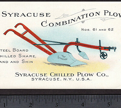 John Deere 115+ yrs old Syracuse Chilled Plow Victorian Advertising Trade Card