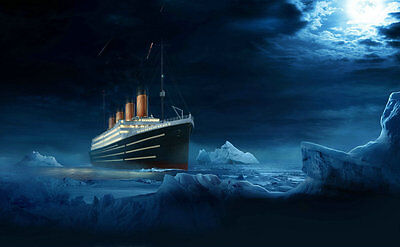 Home Decor Art Wall iceberg Titanic Oil Painting Picture Printed On Canvas lg1