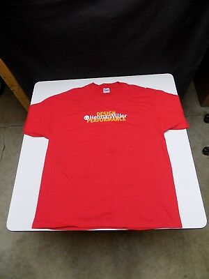 """(1)  NEW HERMAN MILLER """"Design Performance"""" HANES Beefy-T RED T-shirt Size XXL"""