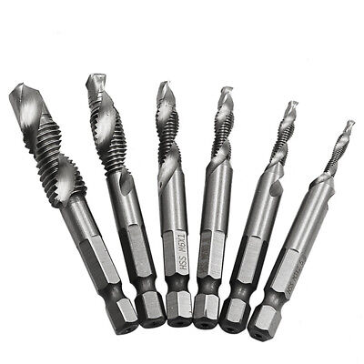 M3-M10 Hex Shank HSS Metric Right Hand Screw Thread Tap Taper Drill Bit Tool